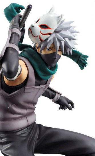 Naruto Shippuden - 1/8 Kakashi Hatake Anbu Version GEM PVC Figure Re-Release - Click Image to Close