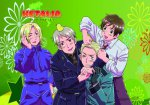 Hetalia - Germany, Prussia, France and Italy Wall Scroll